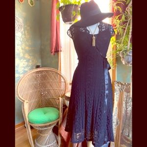 Ariella perfect black lace wrap dress 👗